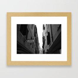 Hotel Patria Tre Rose - Venice, Italy Framed Art Print