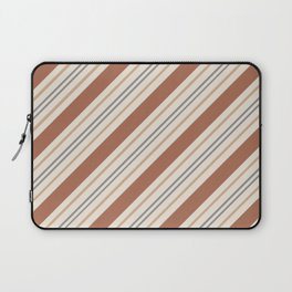 Cavern Clay SW 7701 and Accent Colors Thick and Thin Angled Lines Triple Stripes 1 Laptop Sleeve