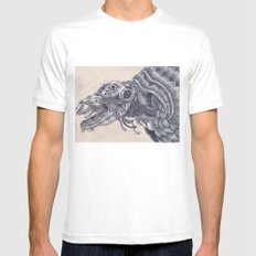 Deep Sea Creature White Mens Fitted Tee SMALL