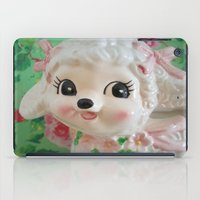 lamb iPad Cases featuring  lamb  by Vintage  Cuteness