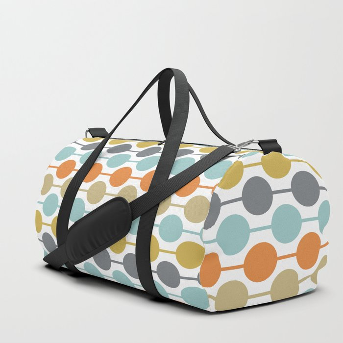 Retro Circles Mid Century Modern Background Duffle Bag