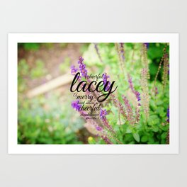 Lacey cheerful Art Print