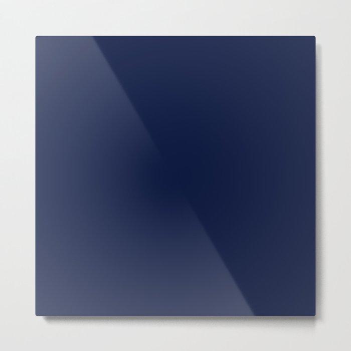 Navy Blue Minimalist Metal Print