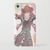 kingdom hearts iPhone & iPod Cases featuring KINGDOM HEARTS 3 Sora by DarkGrey Heroine