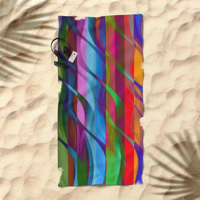 Streamers Beach Towel