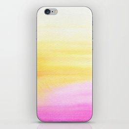 Pink and Yellow Wash iPhone Skin