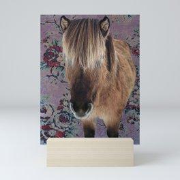 floral Icelandic pony Mini Art Print