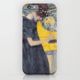 Music by Gustav Klimt, 1895 iPhone Case