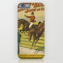 Vintage poster - Circus High Jumping Horses iPhone Case