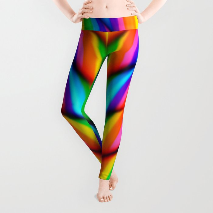 Rainbow Candy : Candy Canes Leggings