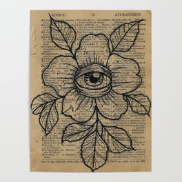 Flower with Eye: Beauty is in the Eye... Poster