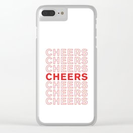 Cheers take-out inspired print Clear iPhone Case