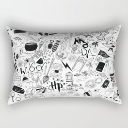Hogwarts, Hogwarts, Hoggy Warty Hogwarts Rectangular Pillow