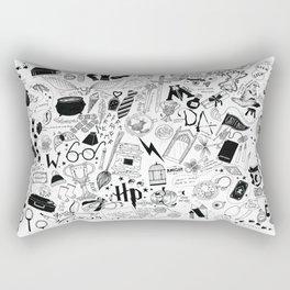 Hogwarts, Hogwarts, Hoggy Warty Hogwarts Rectangular Pillow