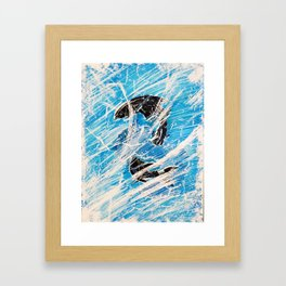 Frozen Fish Framed Art Print