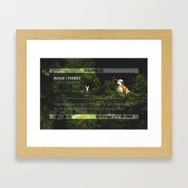 PIDGEY's data was added to the POKéDEX Framed Art Print