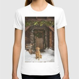 Dog and snow T-shirt