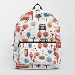 London transport with an adult female Backpack