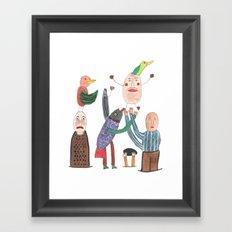 Crazy Egg. Framed Art Print