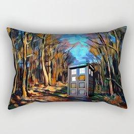 tardis  among the trees Rectangular Pillow