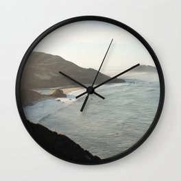 Sunrise over Big Sur Wall Clock