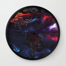 Beauty of Pollution / Aerosol Earth - Western Part Wall Clock