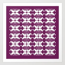 Oh, deer! in violet purple Art Print