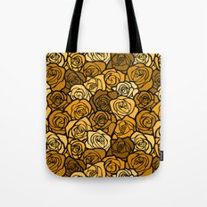Romantic Yellow roses with black outline Tote Bag