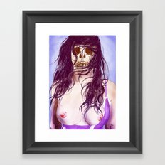 Give us a kiss (color) Framed Art Print
