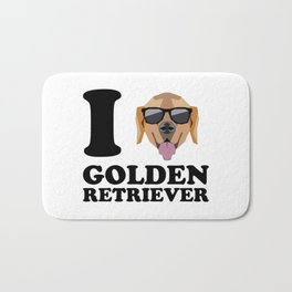I Love Golden Retriever modern v1 Bath Mat