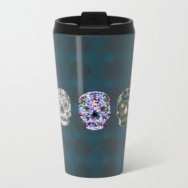 Sugar Skull Abstract Metal Travel Mug
