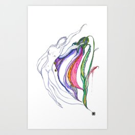 Senility Art Print