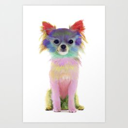 Colorful Chihuahua Art Print