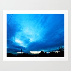 Blue Reflective Storms Art Print