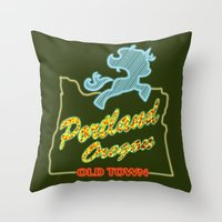 mlp Throw Pillows featuring MLP PDX by Kimball Gray