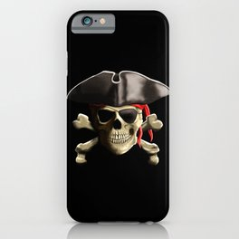 The Jolly Roger Pirate Skull iPhone Case
