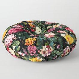 Floral D Floor Pillow