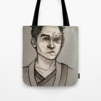 zuko Tote Bags featuring the Fire Prince by Zalazny