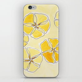 Sand dollars - Yellow iPhone Skin