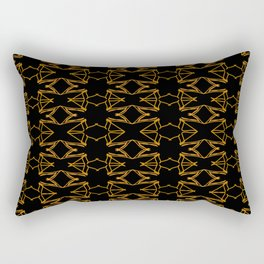 Luxury mandalas gold on black vintage Rectangular Pillow