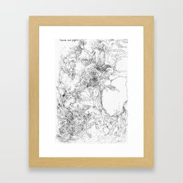 Cosmos and Psyche Framed Art Print