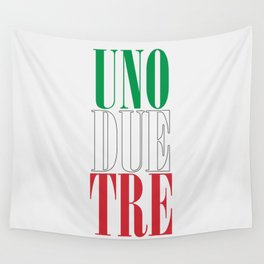 UNO DUE TRE Wall Tapestry