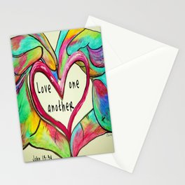 Love One Another John 13:34 Stationery Cards