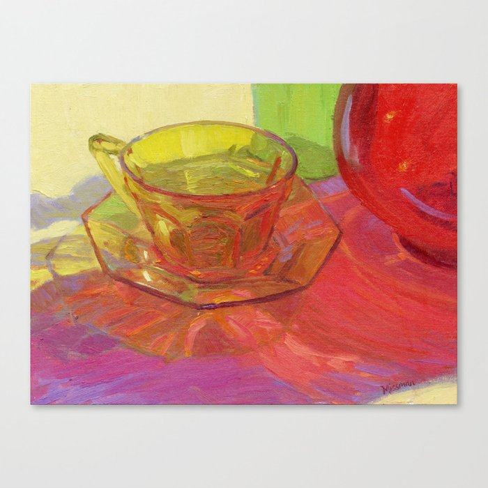 Colored Glass Still Life Painting Canvas Print