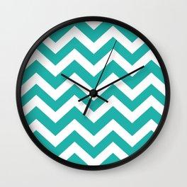 Light sea green - green color - Zigzag Chevron Pattern Wall Clock