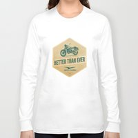 moto Long Sleeve T-shirts featuring moto guzzi by Liviu Antonescu