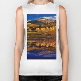 Autumn Mountain Landscape Biker Tank
