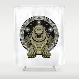 The Lion Age Shower Curtain