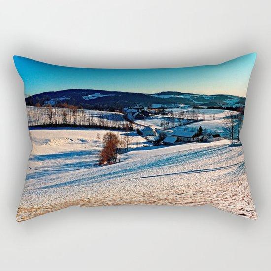 Smooth hills in winter wonderland Rectangular Pillow