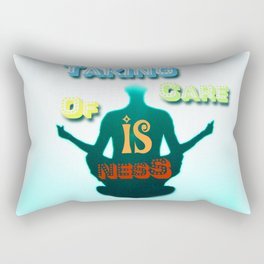 Taking Care Of Isness Rectangular Pillow